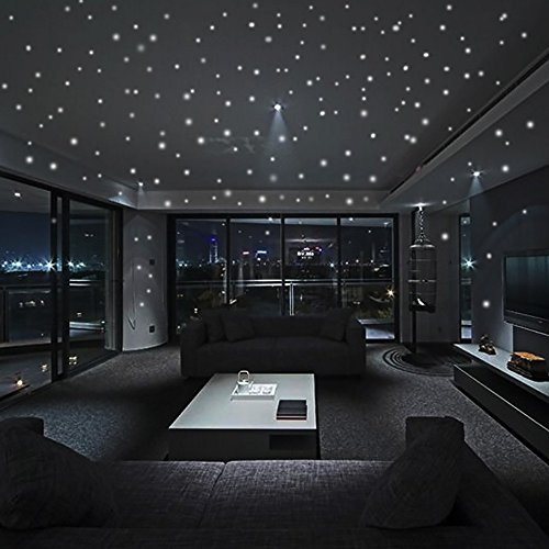 LILICAT Glow in The Dark Star Stickers muraux 407 Pcs Dot Dot Luminous Chambre Décor de la Maison Décoration de la Maison