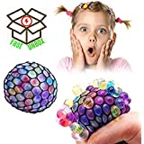 FastUnbox Mesh Squishy Stress Relief Balls Tear-Resistant Non-toxic, birthday party favors , For Kids & Adults For Autism, ADHD, Bad Habits (Set Of 2)