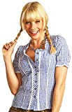 Trachtenbluse Daniela Blau Kariert Gr. 48