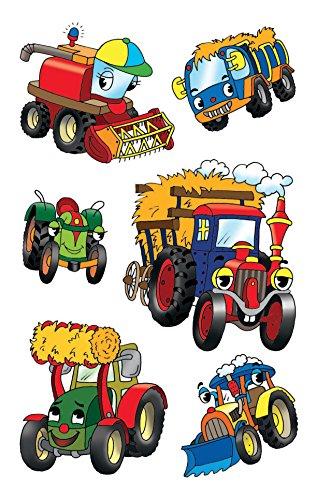 4 Kinder Sticker Traktoren 18 Aufkleber ()