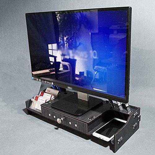 SUPPORT Holz Computer Monitor TV Angehoben Halterung, Desktop Mit Schublade Lagerregal ( Farbe : 2# ) (2 Schubladen Tv-ständer)