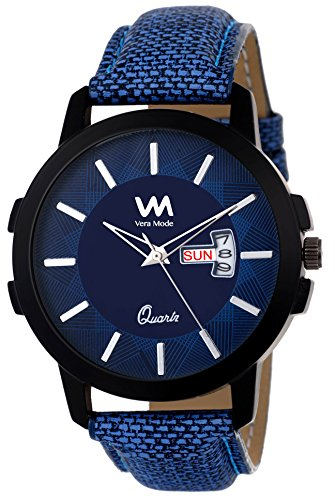 Vera Mode Claire Collection Men\'s Analogue Quartz Movement Blue Dial Watch