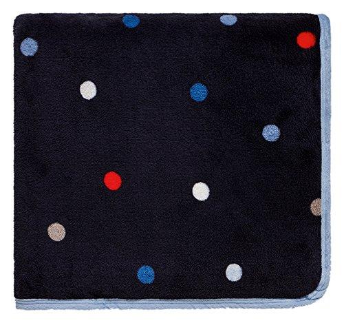 Joules Lunares Forro Polar Manta, poliéster, Azul Marino, Doble pequeña