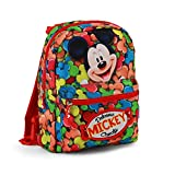 Mickey Mouse Delicious Kinder-Rucksack, 31 cm, Rot (Rojo)