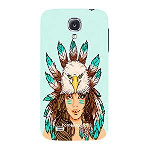 HomeSoGood The Eagle Princess Multicolor 3D Mobile Case For Samsung S4 ( Back Cover)