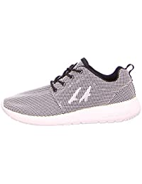 LA Gear L37-3611-01 - Zapatos de cordones de tela para mujer