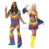 Smiffys, Damen 60er Schnurbatik Kostüm, Kleid, Hippie, Größe: M, 20741 -