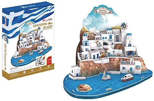 Preisvergleich Produktbild 3D Puzzle Santorini Islands Griechenland îles Santorin isole