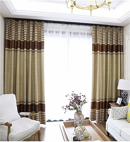 PEIWENIN Schlafzimmer Vorhänge modern fertig Wohnzimmer Vorhänge Küche Fenster Vorhänge, Single, Breite: 200cm * Höhe: 260cm, gelb