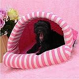 Wuwenw Schönes Hundehaus-Haustier-Bett-Bett-Kurzer Plüsch-Hundeschlafsack-Weiche Bequeme Hundebetten Für Kleine Hunde Zwinger-Wärmer-Katzen-Zelt, Rosa