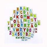 Coemo Magnet Buchstaben und Zahlen für Tafel + Tiermotive + Obst + Wochentage = 78 Teile