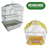 Heritage Cages 2112 Corfe Bird Cage Small Budgie Finch Canary 30 x 23 x 39cm Pet Home
