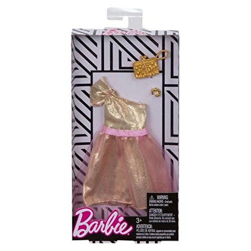 reputable site fa1a8 52331 Barbie - Abiti alla Moda - Abito con Tulle Color Oro