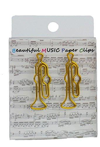 Büroklammern Trompete gold - Schönes Geschenk für Musiker
