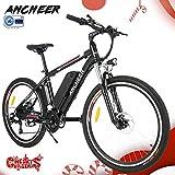 ANCHEER Elektrofahrrad Faltbares Mountainbike, 26 Reifen Elektrisches Fahrrad Ebike mit 250W bürstenlosem Motor und 36V 8Ah Lithium-Batterie Shimano 21-Gang (Schwarz - Plus, Schwarz - Plus)