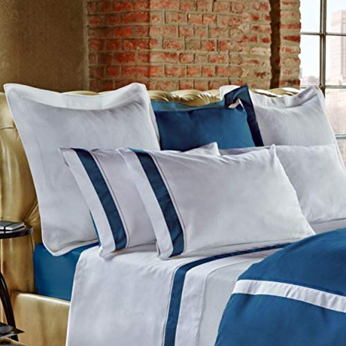 Frette at Home Arno Kissenbezug, King Size, Blau/Ozean -