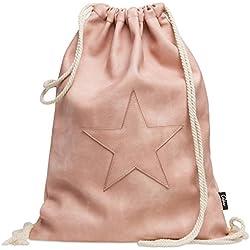 MOCHILA de Cuerdas CASPAR Rosa con Estrella