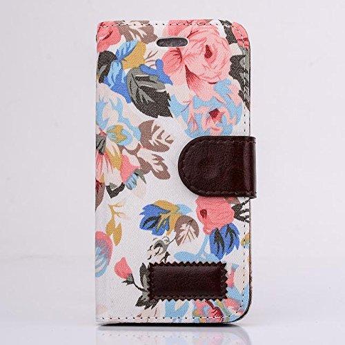"""inShang Hülle für Apple iPhone 6 Plus iPhone 6S Plus 5.5 inch iPhone 6+ iPhone 6S+ iPhone6 5.5"""", Cover Mit Modisch Klickschnalle + Errichten-in der Tasche + FLOWER CLOTH , Edles PU Leder Tasche Skins  flower cloth yellow"""
