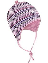 Fiebig Bonnet De Bébé Fille Cravate À Lanières Chapeau D Hiver Cap  D Automne Mi-Saison Strié Avec Doublure Polaire Pour Enfants (FI… c25f23b644d