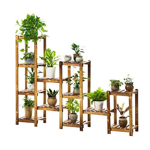 Pflanzenständer Pflanze Stehen Massivholz-Blumenstandplatz-Mehrschicht-Landung-Sukkulenten-Pflanzenpräsentationsständer-Mehrschichtbetriebsstand-Blumen-Anzeigen-Blumentopf-Lagerregal für