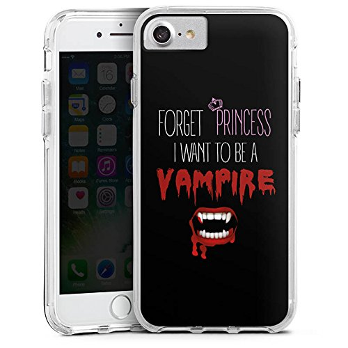 Apple iPhone 8 Plus Bumper Hülle Bumper Case Schutzhülle Hallowen Spruch Vampir Bumper Case transparent