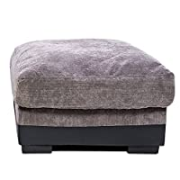 Beshomethings Fabric Foot Stool Single Pouffe Seat Footrest Footstool For Hallway Living Room
