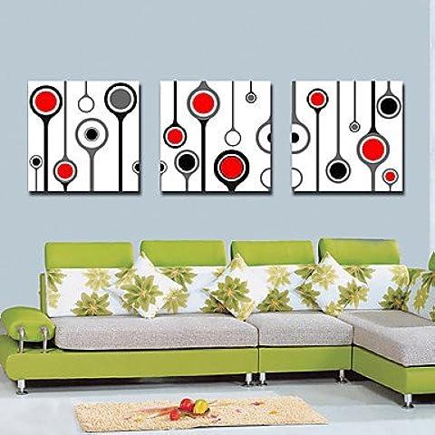 FanVass Trasferimenti su tela Abstract Art Circle Set di 3 , 24