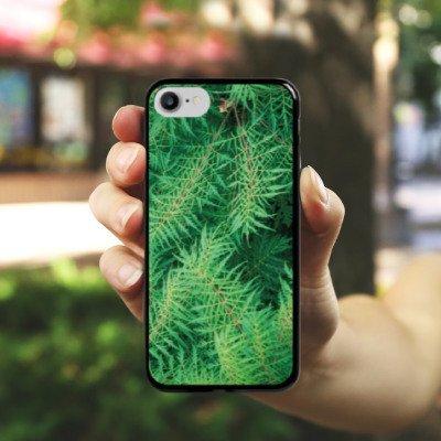 Apple iPhone X Silikon Hülle Case Schutzhülle Farn dschungel Wald Hard Case schwarz