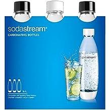 Sodastream 3000098 Pack 3 Bouteilles Blanc/Noir