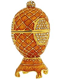 The Olivia Collection TOC Small Goldtone Fabrege-Style Egg Trinket Jewellery Box