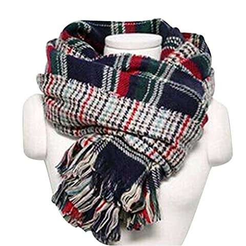 Eizur Women Ladies Elegant Plaid Wraps Scarf Vintage Tigre Cashmere