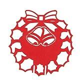 50pcs Carte de Verre en Forme de Papillon Rouge pour Décoration Noël