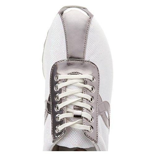 Fácil Espírito Tecido Sil Branca Largura Sneakers De Lexana 2 aHr6n7zwaq