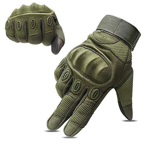 OMGAI Männer Volle Finger Handschuhe, Fingerlose Handschuhe Tactical, Airsoft Jagd, Reiten Fahrradhandschuhe, Sport