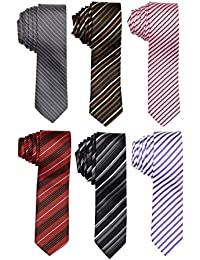 Sorella'z Combo of Six Micro Fibre Neckties for Men's (we will ship any 6 different color good ties from stock)