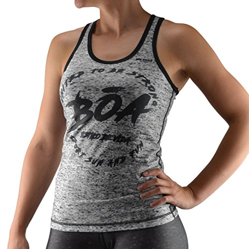 Bõa estilo camiseta de tirantes para mujer, Mujer, Estilo, gris, small