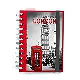 Grupo Erik Editores AGVDP1704 Agenda scolaire 2017/2018 Page par jour Motif Londres
