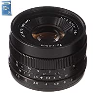 7artisans 50mm/F1.8 APS-C Manual Focus Prime Fixed Lens for for M4/3 Mou...
