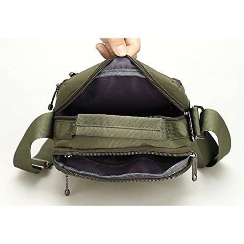 Outreo Borsa Tracolla Uomo Borsello Viaggio Borsa Vintage Messenger Bag Borse a Spalla Sport Sacchetto Tablet Borsetta Tasca d'acqua Verde