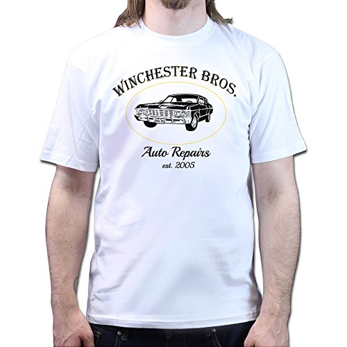 Super Natural Winchester Bros. Auto Repairs T-Shirt Weiß