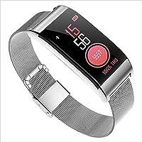 Fitness Tracker HR, rastreador de actividad con frecuencia cardíaca y monitor de presión arterial, Fitness Watch Rastreador de fitness IP67 a prueba de agua para muñequeras rastreadoras de salud para