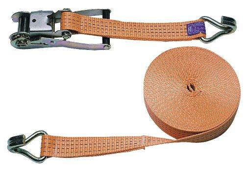 Ratschenzurrgurt zwtlg. orange 50mm / 8m; Zurrkraft 4000 kg
