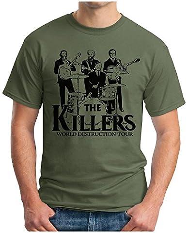 OM3 - THE KILLERS WORLD DESTRUCTION TOUR - T-Shirt PUNK ROCK POP MUSIC PARODIE PARODY GEEK SWAG, XXL,