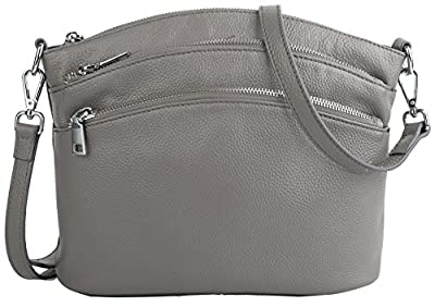 UPDATED VERSION - Yaluxe Women's Casual Small Genuine Leather Cross Body Satchel Bags