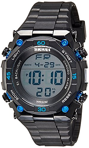 Skmei Digital Multi-Colour Dial Unisex Watch - 1130BBBL