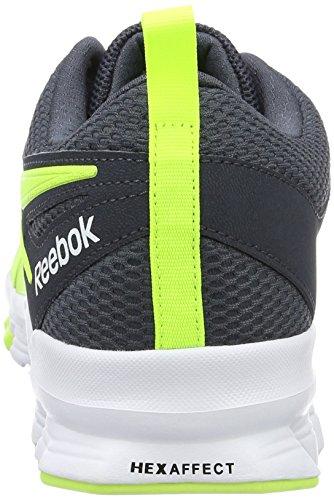 Reebok Herren Hexaffect Sport Laufschuhe Grau (solar Yellow/smokey Black/white)