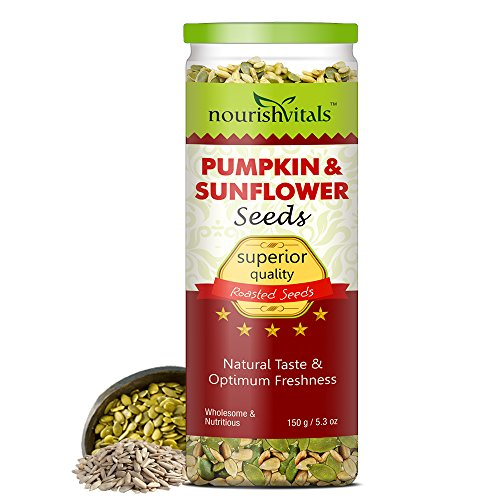 Nourish Vitals Roasted Pumpkin & Sunflower Seeds (superior Quality) - 150 Gm