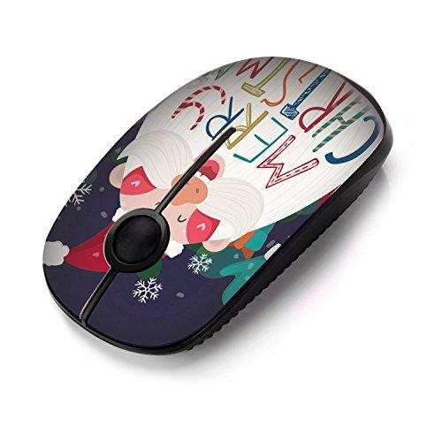Kabellose Maus, Jelly Comb 2.4G Maus Schnurlos Wireless Kabellos Optische Maus mit USB Nano Empfänger für PC / Tablet / Laptop und Windows / Mac / Linux, Weihnachtsangebot, Weihnachtsmann