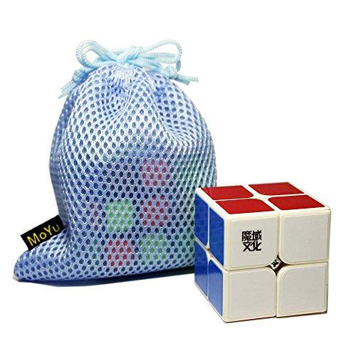 x2 Geschwindigkeit Cube Puzzle 2x2 Glatte Puzzle Glatte Gehirn Teaser Twist Spielzeug mit Einem Cube Bag(Weiß) ()