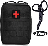 TOUROAM Tactical Emergency First Aid Medical Kit-MOLLE Admin Pouch IFAK-Wound Dressing Blood Control EMT Survi